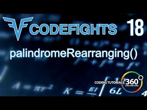 PalindromeRearranging | CodeFights Intro Algorithm JavaScript Solution and Breakdown