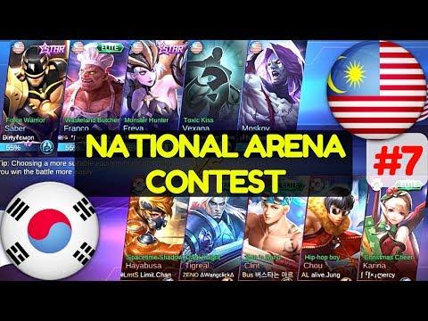 Malaysia VS South Korea [1st Game 070617] National Arena Contest Mobile Legends