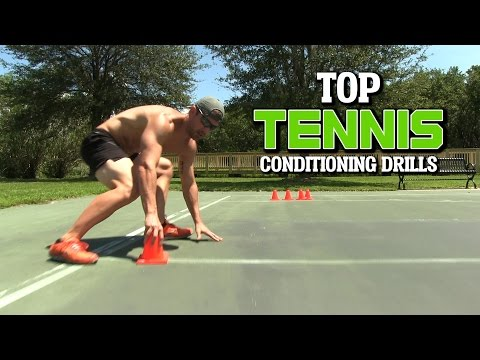Tennis Conditioning Workout - Cone Drills to Improve Fitness & Speed