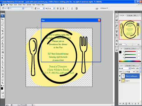 How to Make a Simple Invitation card with Photoshop CS3