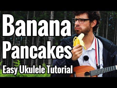 Jack Johnson - Banana Pancakes - Ukulele Tutorial With Picking in D#
