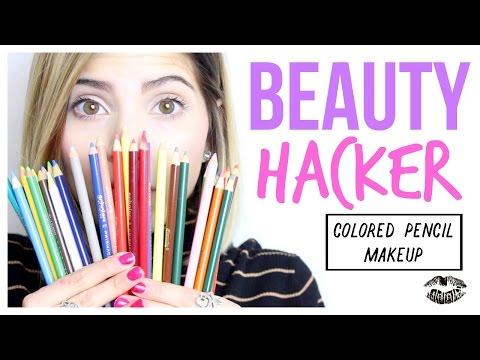 Beauty Hacker | Colored Pencil Makeup
