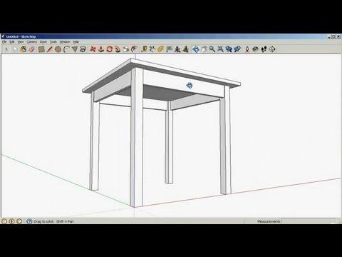 SketchUp: Drawing a table