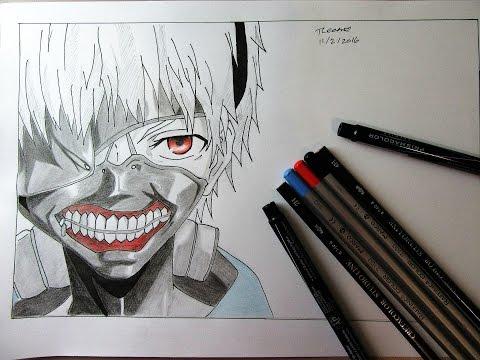 Ken Kaneki (Tokyo Ghoul) Speed Drawing