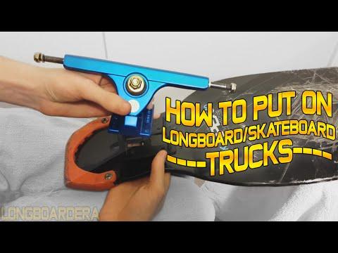 How to put on Longboard or Skateboard Trucks By LongboardEra