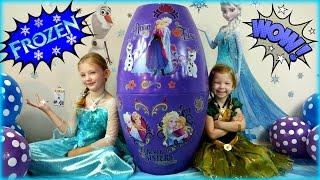 Biggest Surprise Egg Ever! Frozen Surprise Toys Eggs Disney Frozen Elsa And Anna
