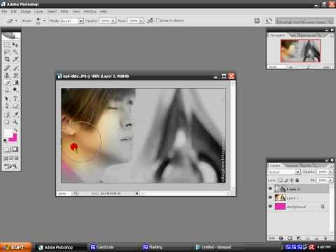 How to make color splash effect in adobe photoshop cs2