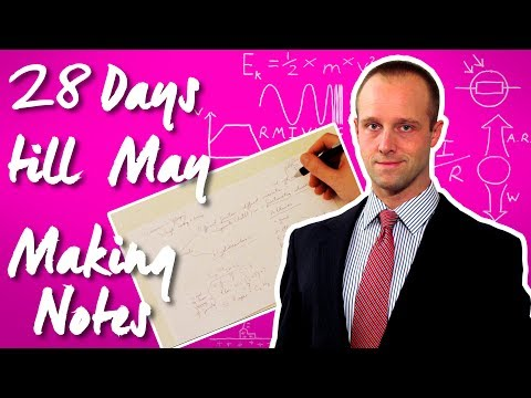 GCSE Revision - Making Revision Notes - 30 Days Till May - Succeed In your GCSE and IGCSE