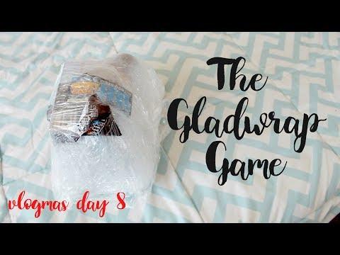 The gladwrap/saran wrap game! | Vlogmas day 9