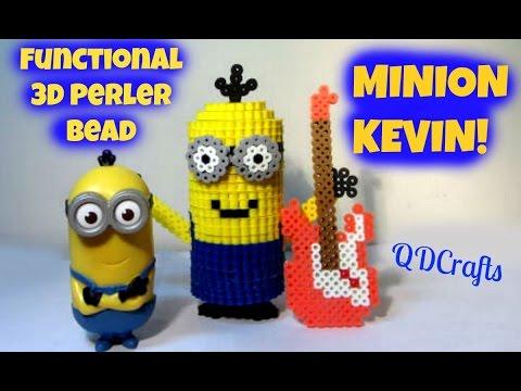 3D Perler Bead MINION Kevin Piggy Bank/Storage (FULL TUTORIAL)