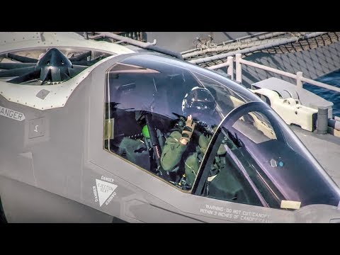 F-35B Lightning II Short Takeoff from Amphibious Assault Ship USS Wasp