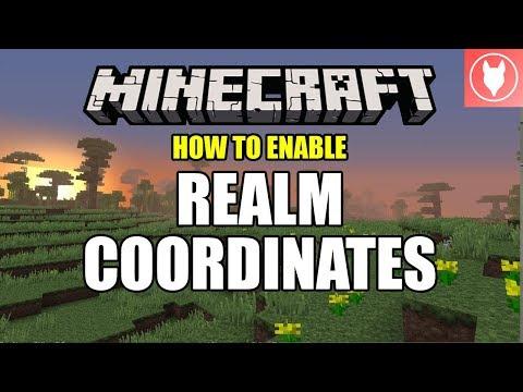 How to Enable Realm Coordinates - Minecraft Bedrock  ( Xbox / MCPE / Windows 10 )
