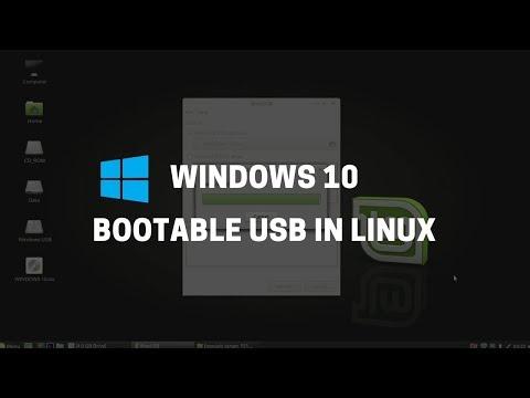 How to Make Windows 10 Bootable USB on Ubuntu or Linux Mint