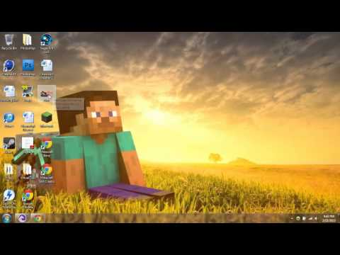 Minecraft Tutorial | How to download / Make your own Minecraft skins | 1.7.9 | 2014 Cracked Version
