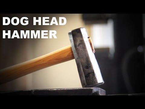 Forging a Dog Head Hammer - Blacksmithing