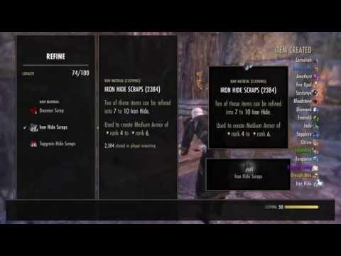 The Elder Scrolls Online: Refining 4k Raw Materials!