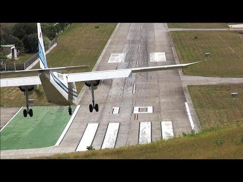 Dangerous Airport! St. Barth Landings and Departures ( HD )