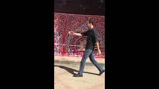 Bashar Al-Assad walking in the streeet) VISTING SUPERMARKET