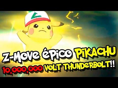Z-MOVE ÉPICO ASH-PIKACHU 10,000,000 VOLT THUNDERBOLT!