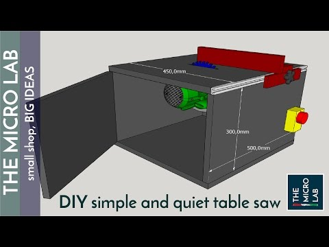 Building a Simple, Cheap and Quiet Homemade Table Saw (and it is also very accurate!)