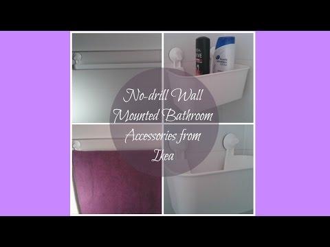 No-drill Wall Mounted Ikea Bathroom Accessories