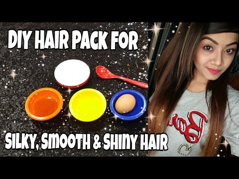 How to get Silky, Smooth and Shiny Hair- DIY Hair Pack to get rid of Dull, Frizzy hair