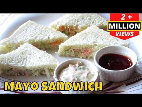 Veg MAYO SANDWICH - Perfect for Kids Lunchbox