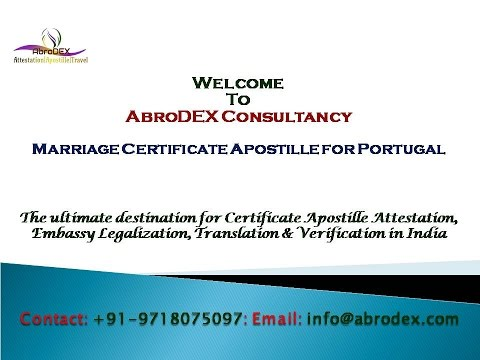 Marriage Certificate Apostille for Portugal
