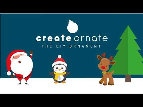 create ornate christmas ornaments brand intro