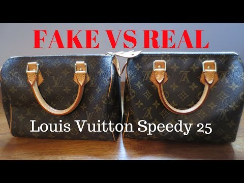 Fake vs Real | Louis Vuitton Monogram Speedy 25 | Handbag Comparison and Authentication