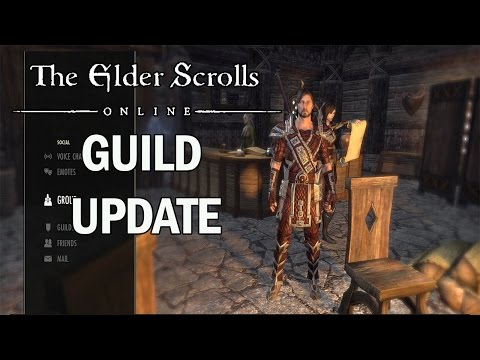 The Elder Scrolls Online Tamriel Unlimited: PS4 Guild Update