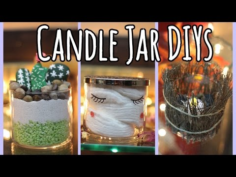 Cute & Easy Candle Jar DIYs Using Bath & Body Works Jars