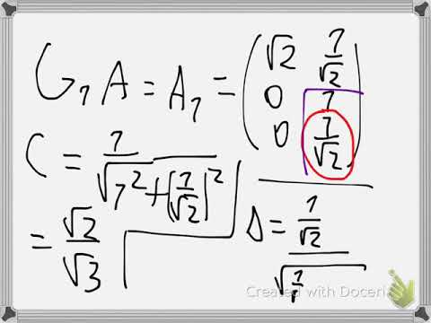 Least square approximation with QR decomposition