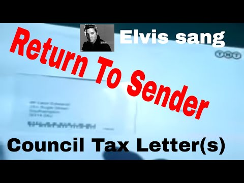 Return to Sender Council Tax letter(s)