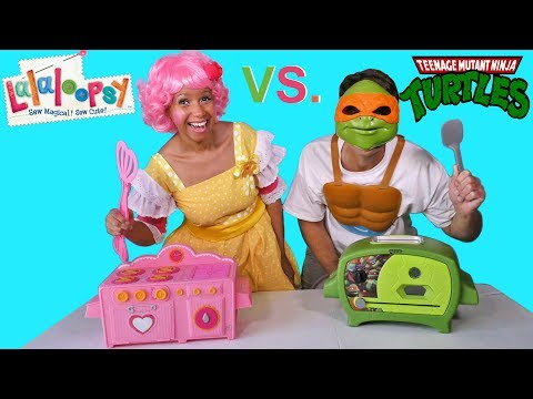 LaLaLoopsy Oven Vs. Ninja Turtles Oven Cake Challenge ! || Toy Review || Konas2002