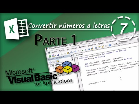 Convertir números a letras Parte 1 | VBA Excel 2013 #7