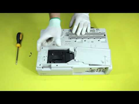 How to replace the projector lamp for SONY VPL EX246