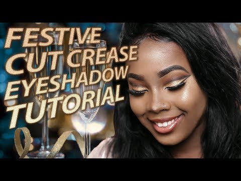 Cut Crease Eyeshadow Tutorial using Fenty Beauty Galaxy Palette
