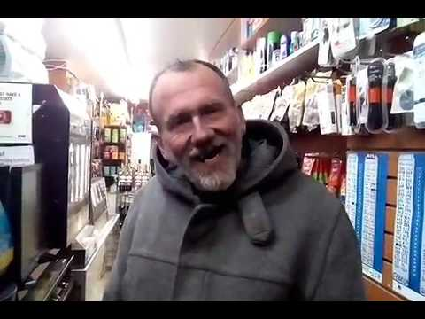homeless man in store doesn't realize I just gave him $99.00
