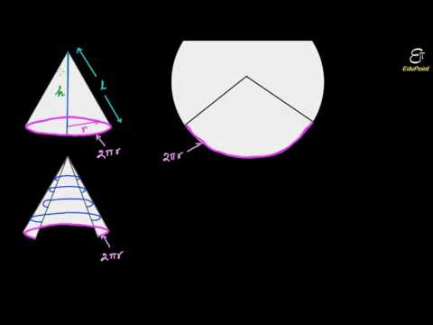 Mensuration | Curved surface area of a Cone for SSC CGL IBPS | PROVED in HINDI | हिंदी