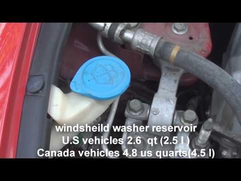 where is the windsheild washer fluid Honda Civic 2006-2011