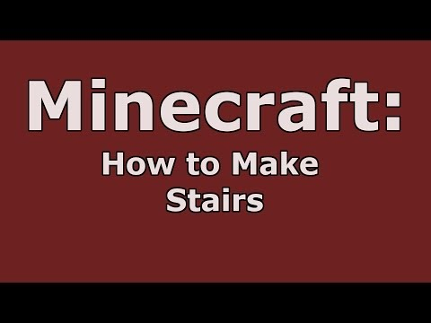 Minecraft: How to Make Stairs