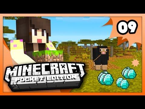 Minecraft PE (Pocket Edition) - DIAMONDS & A NEW FRIEND - Ep 9