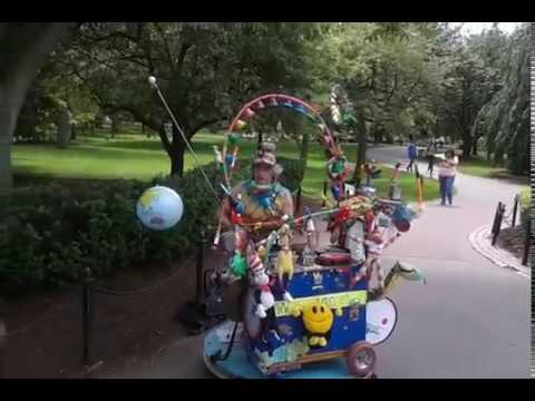 One Man Band Performer - Boston Public Garden