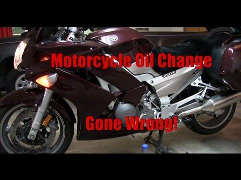 Motorcycle Oil Change (gone wrong)