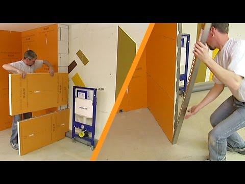 Schlüter®-KERDI-BOARD: Installation of partition walls
