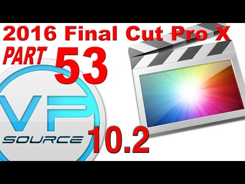 53. How to CREATE AUDIO TRANSITIONS Final Cut Pro X 10.2.3 (2016)
