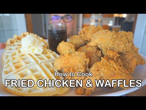 How to cook FRIED CHICKEN & WAFFLES