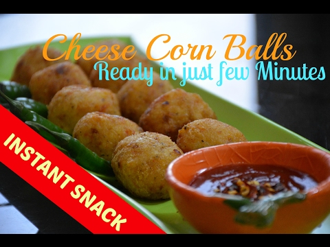 Cheese Corn Balls | INSTANT recipe | Vegetarian snack | Jain food