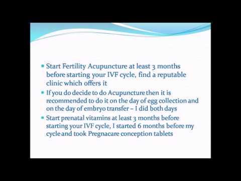 IVF SUCCESS TIPS-  IMPROVE YOUR CHANCES